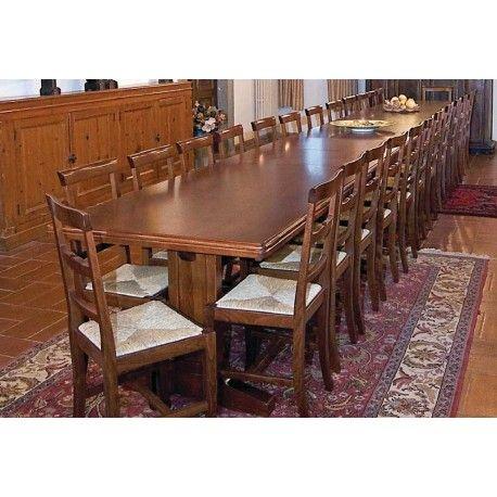 Tavolo in legno l. 220 cm allungabile fino a 5,5 metri art