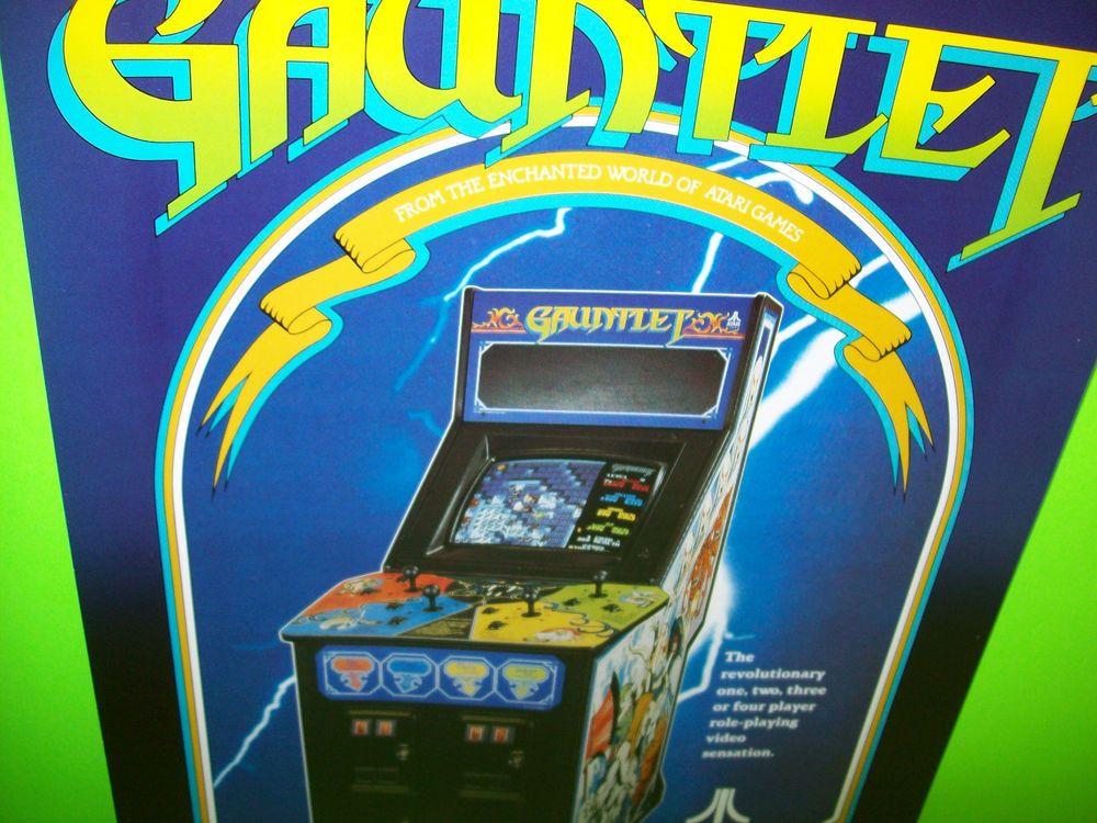 Atari GAUNTLET Original 1985 NOS Classic Video Arcade Game