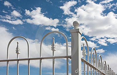 Corner Of White Wrought Iron Fence Wrought Iron Fences Iron