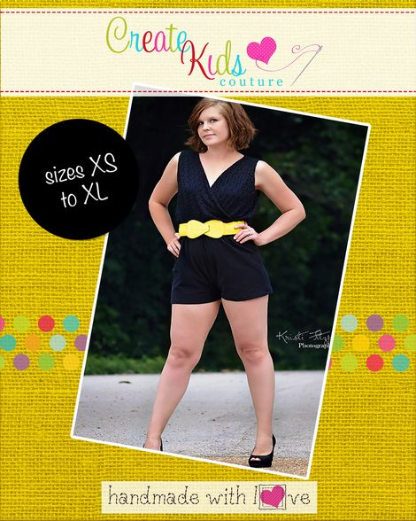 Camila\'s Crossover Romper   Women\'s Sewing Patterns   Pinterest