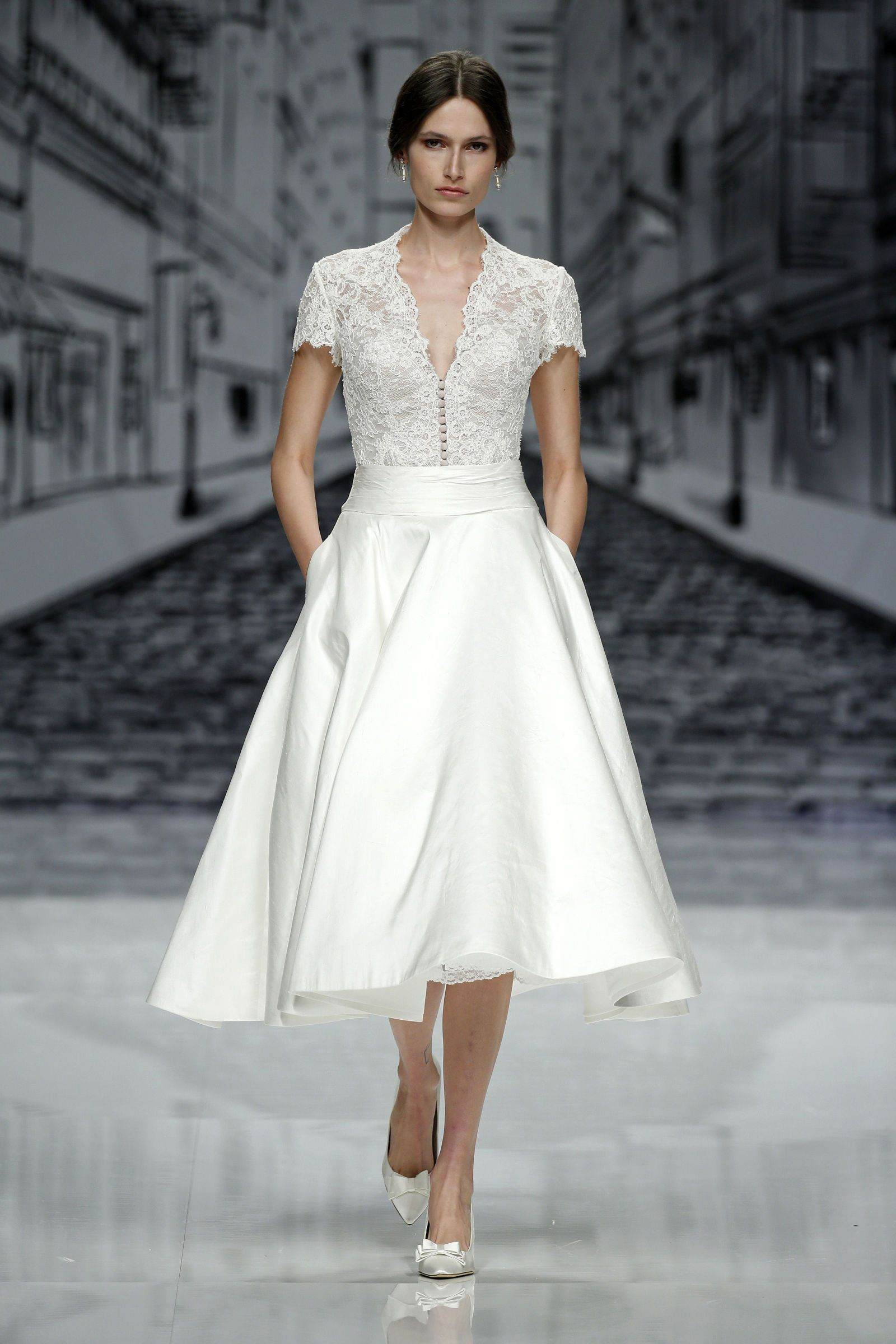 The best short wedding dresses from fall bridal week