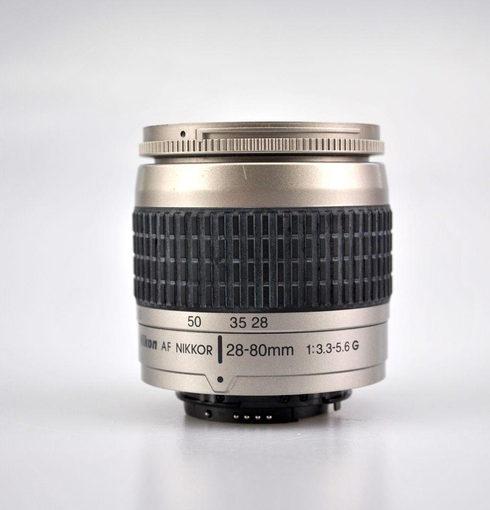 Nikon Af Nikkor 28 80mm 1 3 3 5 6 G Digital Slr Camera Lens For Nikon Silver Nikon Nikon Lens Ebay