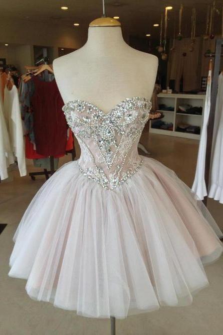 Custom Made Sweetheart Neckline Short Prom Dresses, Homecoming Dress ...