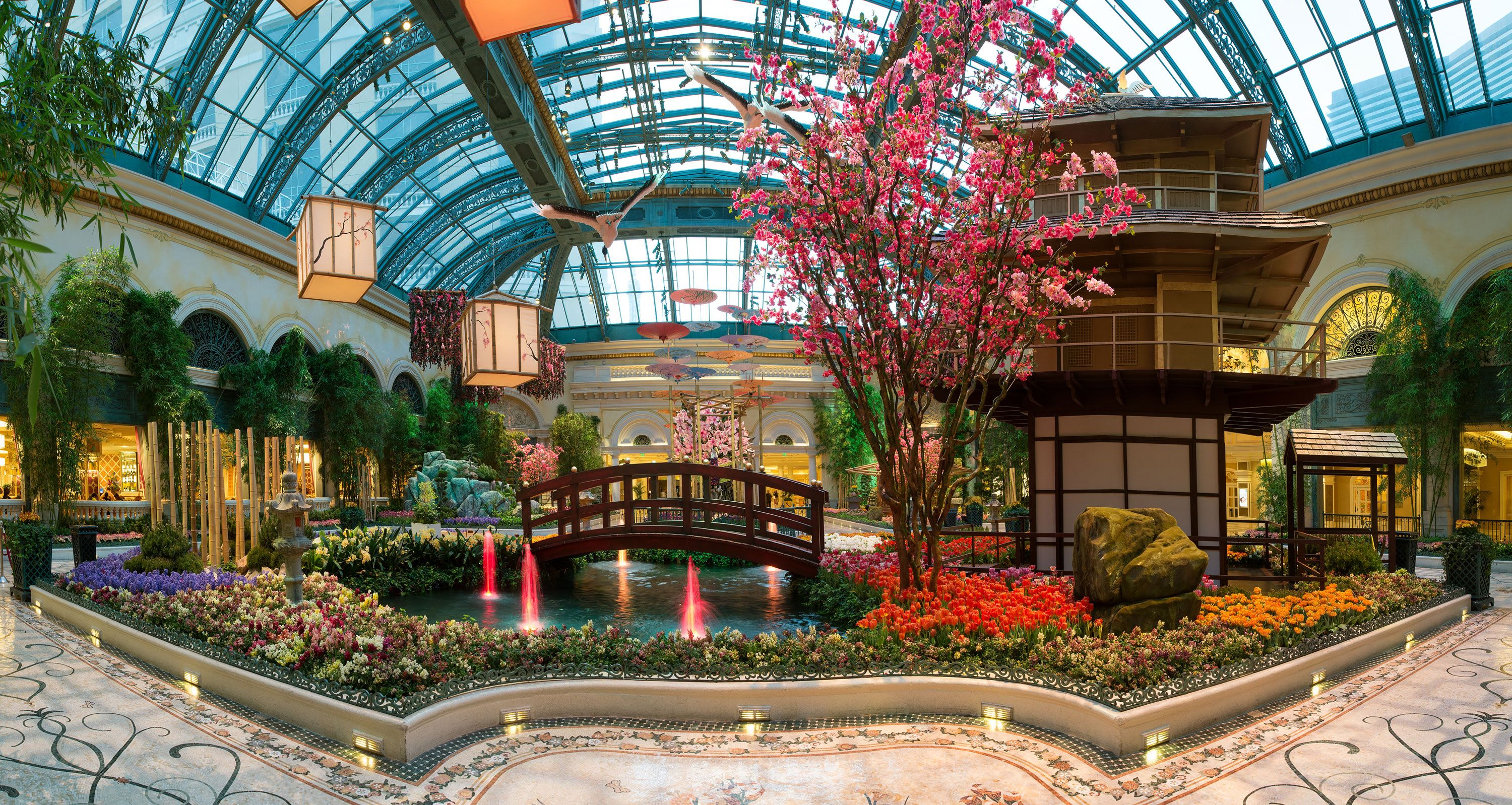The West Bed of the Japanese Spring Display in the #Bellagio ...