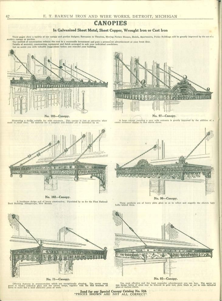 E. T. Barnum iron & wire works, | ковка | Pinterest | Iron, Canopy ...
