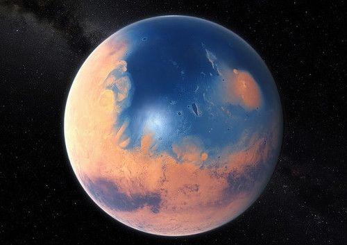 Художественное изображение Марса 4 миллиарда лет назад in ...