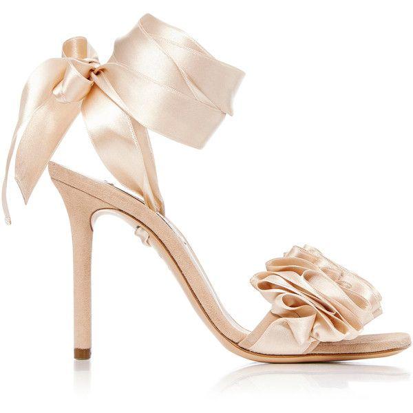 ruffled heel stiletto sandals - Nude & Neutrals Casadei OKHMO