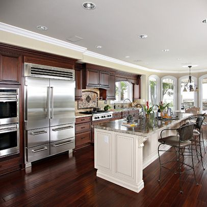 Cherry Cabinets With White Bar Cherry Cabinets Kitchen Wood