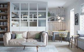 Offene Küche vom Wohnzimmer abtrennen: Trennwände im Industrie-Look ...