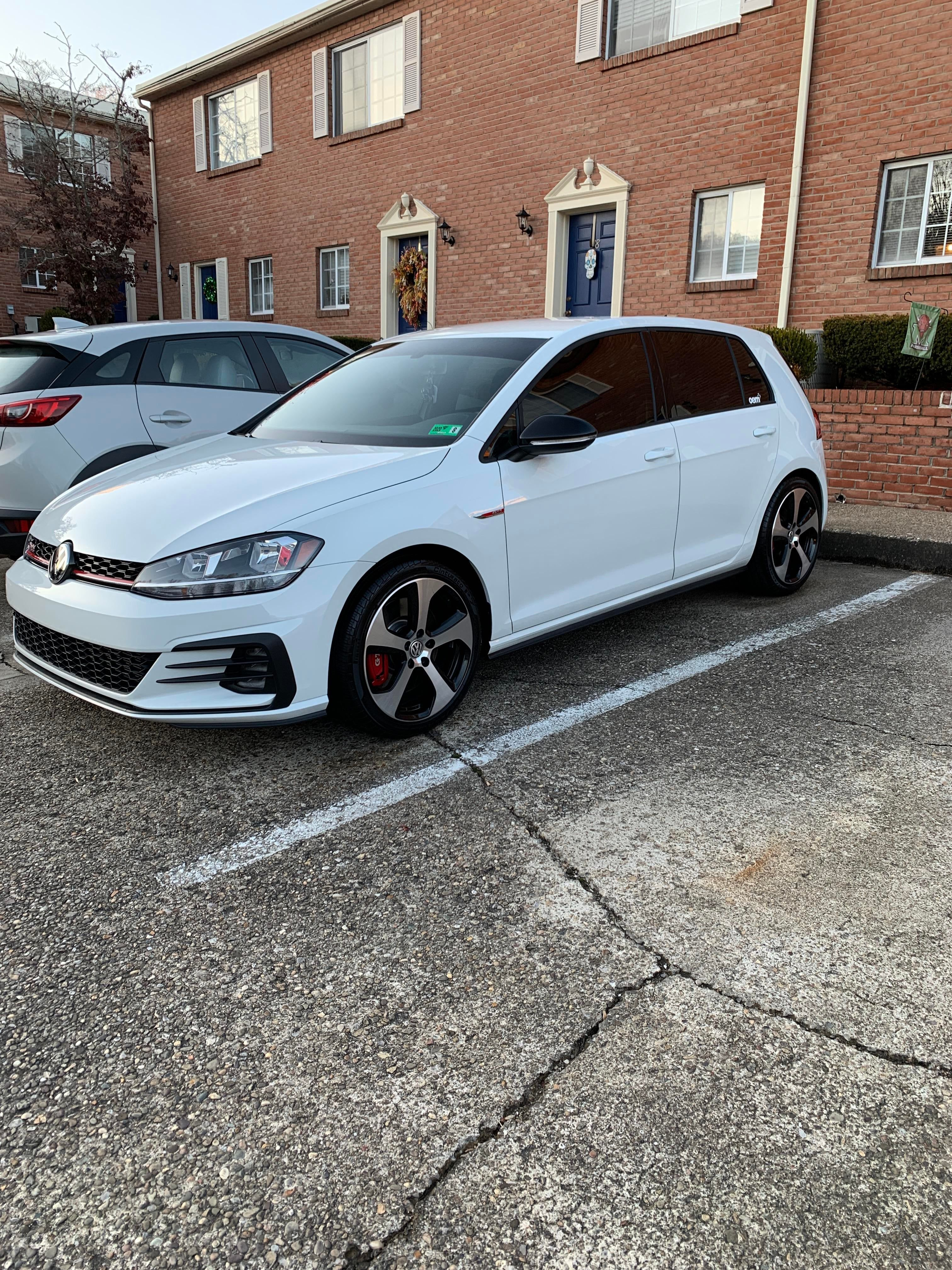 First Vw Since My Mk3 Jetta Brand New Pure White Mk7 5 Gti Evmore Electric Vehichle Pure Products Gti Pure White