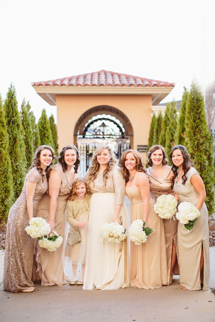Silver + Gold New Year's Eve Wedding Wedding, Bridesmaid