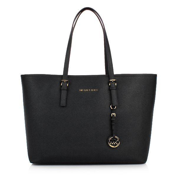 08c151e7c MICHAEL Michael Kors Jet Set Travel MD Multifunction Tote Black Shopper bei  Fashionette #Handbagsmichaelkors