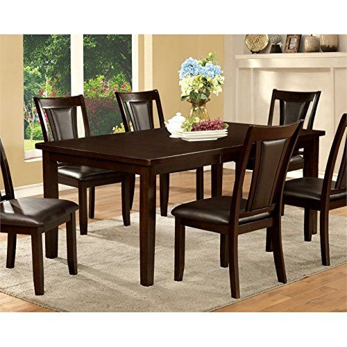 Furniture Of America Humphrey Extendable Dining Table In Dark Adorable Sale Dining Room Furniture Inspiration Design