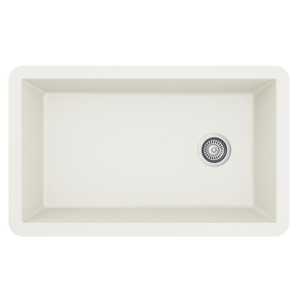 Karran Undermount Quartz Composite 32 In Single Bowl Kitchen Sink