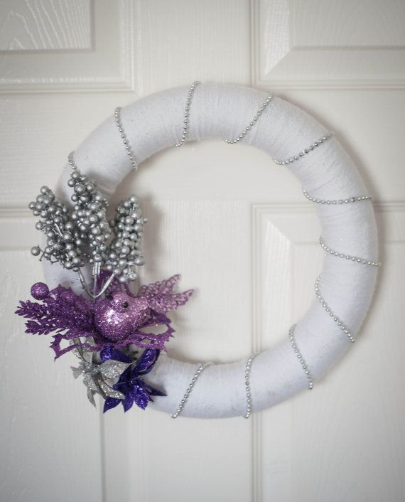 Christmas Grapevine Wreath 12 in white silver | 12 inch Christmas ...