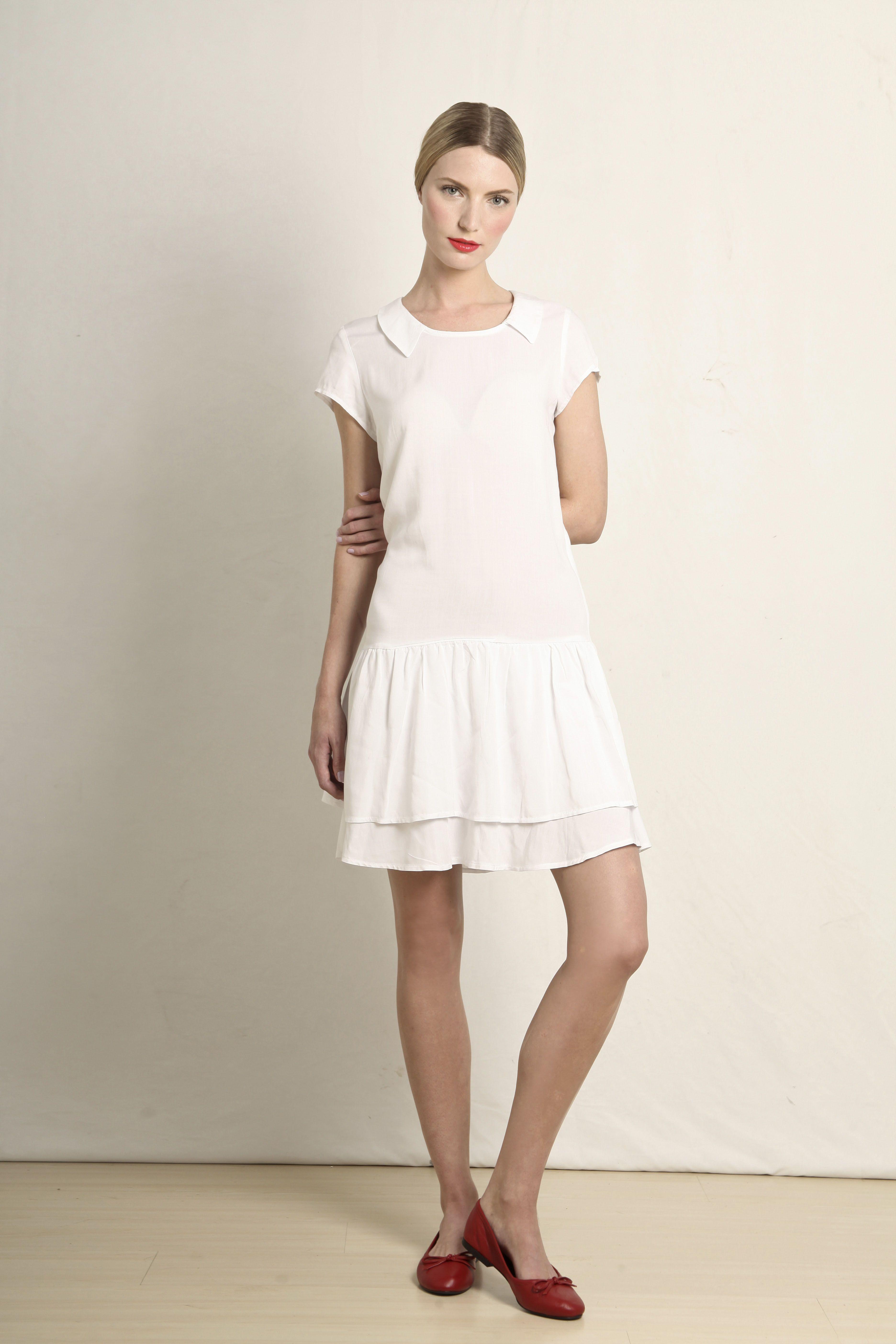 Chloe dress in white  GB202-wht  R699.00  www.georgieb.com