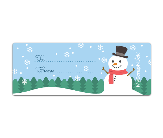 Download This Merry Xmas Snowman Mailing Label And Other Free