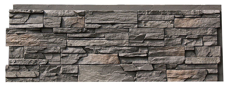 Nextstone Country Ledgestone Faux Polyurethane Stone Panel Appalachian Gray 4 Pack Faux Stone Siding Faux Stone Panels Stone Siding