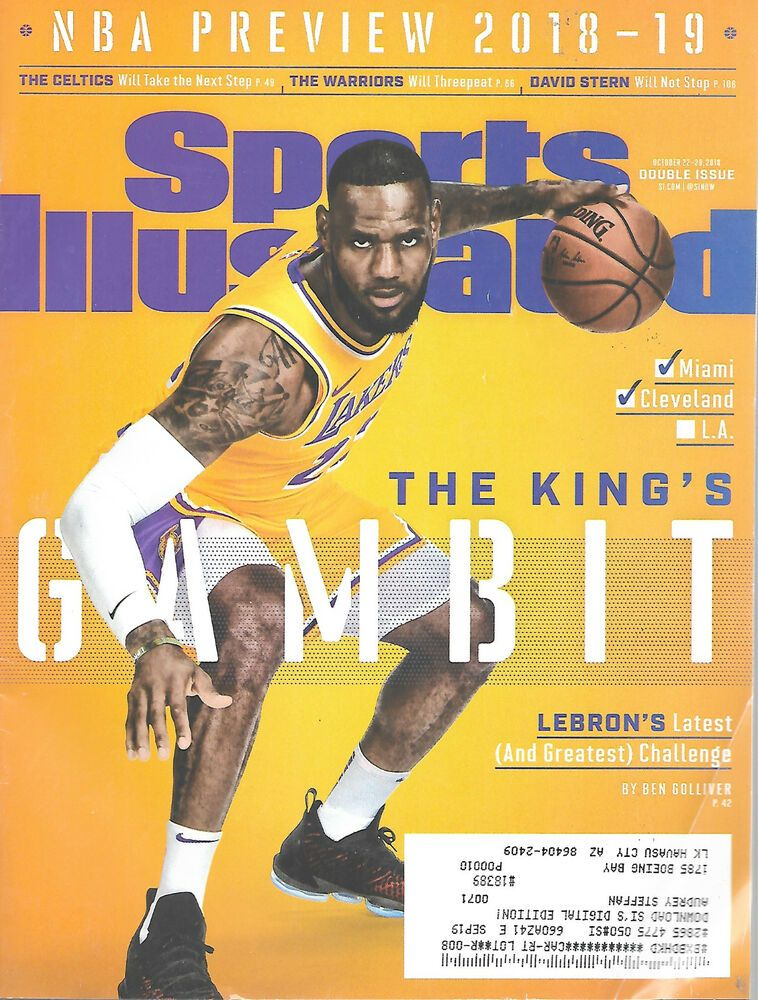 953888749b46 Sports Illustrated Magazine October 22- 29 2018 LeBron James Los Angeles  Lakers  doesnotapply