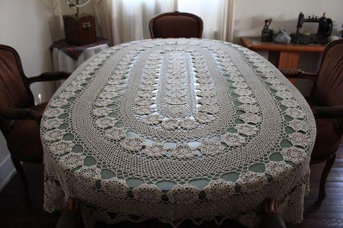 Manteles ovalados tejidos a crochet patrones gratis - Imagui ...