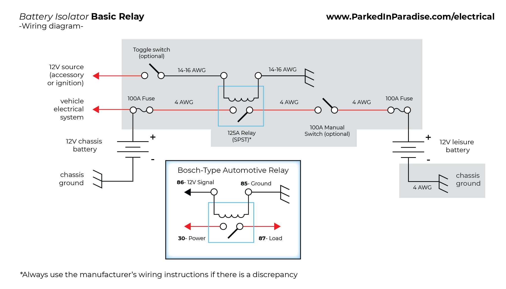 Unique Second Battery Wiring Diagram Car