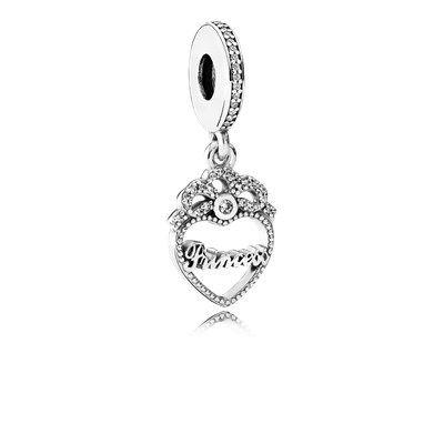 9f2a5c16b561 Princess Crown Heart Hanging Charm - 791962CZ · Pandora ...