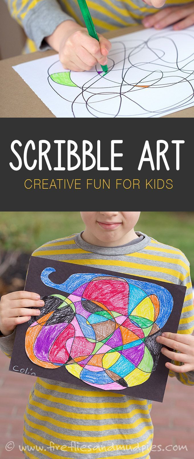 Art for Kids Scribble art is a fun, boredom busting, creative art activity for kids!  Sponsored byScribble art is a fun, boredom busting, creative art activity for kids!  Sponsored by