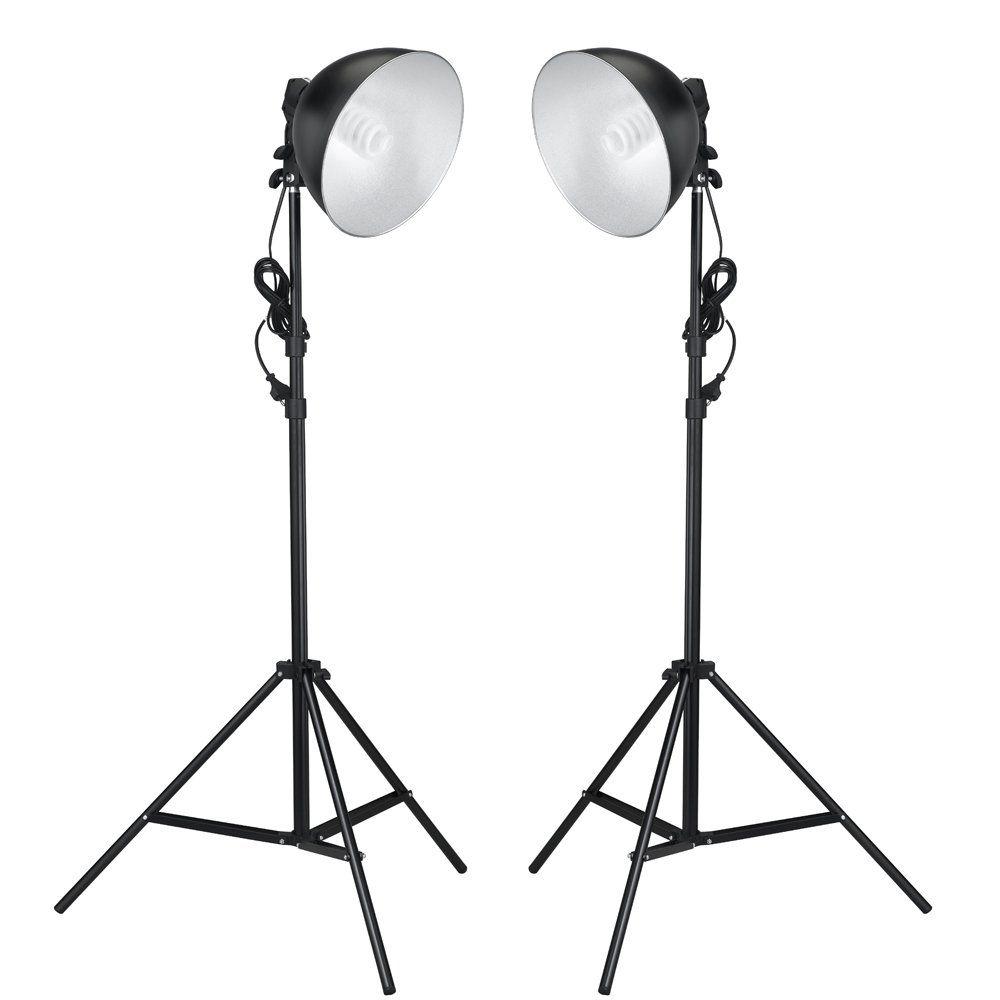 Fotostudio Studioleuchten 2 Leuchten Tageslichtlampe Studiolampe Stativ Neu Tageslichtlampen Lampen Fotolampe