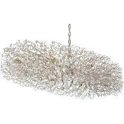 Photo of Brand van Egmond Hollywood oval chandelier, length 200 cm, white Brand van Egmond