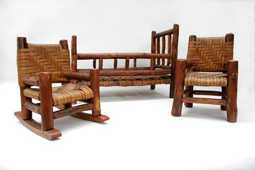 Antique Old Hickory Furniture Salesman Samples Rare