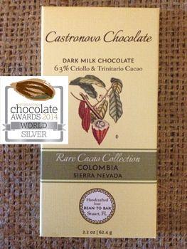 Rare Cacao Collection - Sierra Nevada Colombia Dark Milk 63% - 4 bars - Castronovo Chocolate