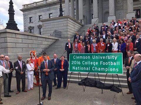 Dabo Swinney At Clemson Day At Sc State House 2 28 17 Clemson Football Clemson Alumni Clemson