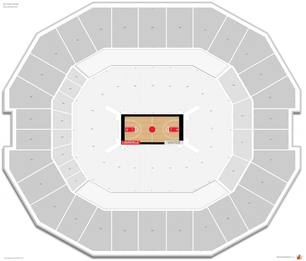 Stylish Kfc Yum Center Seating Chart With Row Letters Di 2020