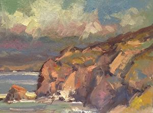 Coastal colors by John P. Weiss in the FASO Daily Art Show