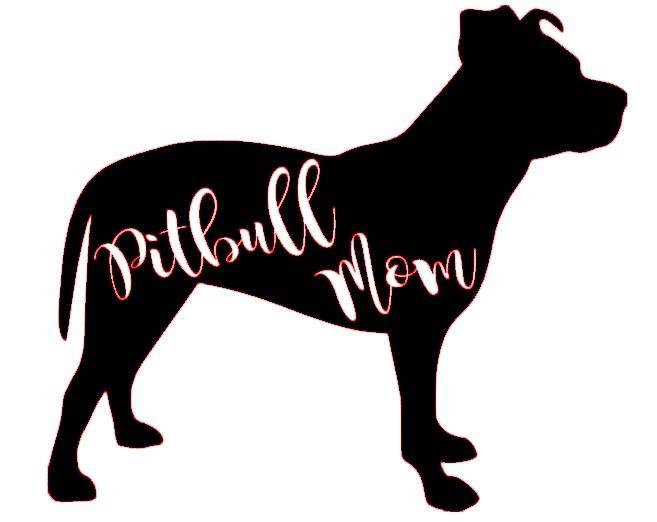 Download Pitbull Mom SVG file by KristensKreationsLLC on Etsy ...