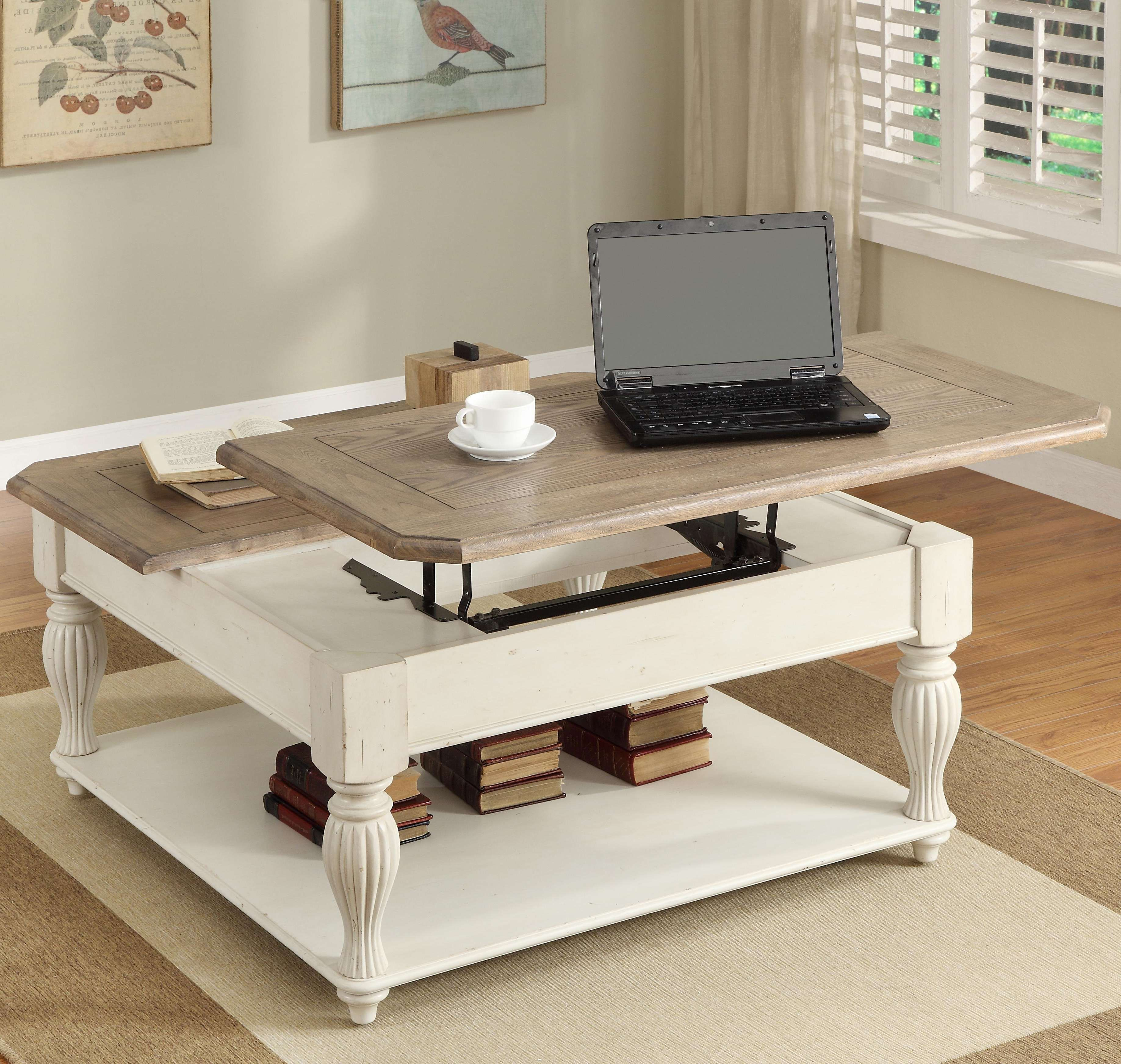 Coffee Table With Raisable Top Download Coffee Tables Cool Black Rectangle Farmhouse Wood Lif [ 3488 x 3674 Pixel ]