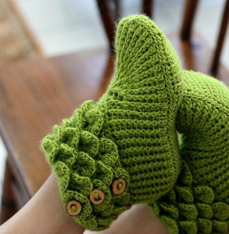 """Customizable """"Dragon Slippers"""" Line Your Cold Feet with Cozy ..."""