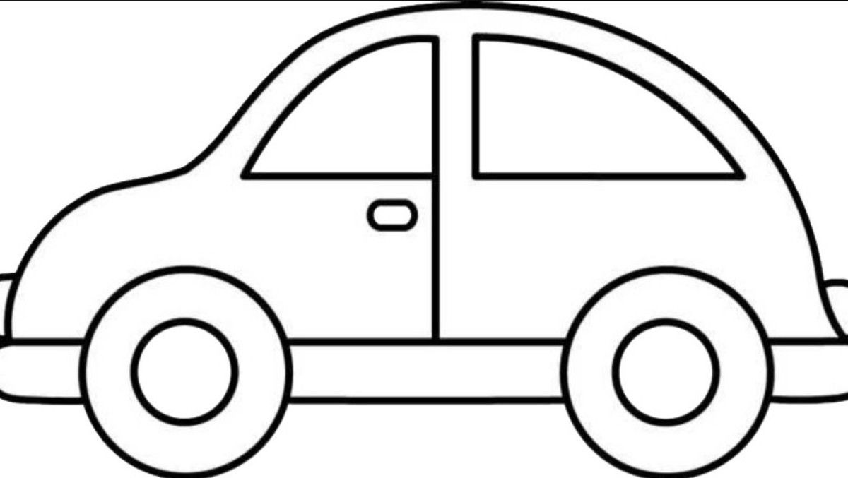 Pin By Molly Thomas On Caleb S 2nd Birthday Easy Coloring Pages Car Drawing Kids Cars Coloring Pages