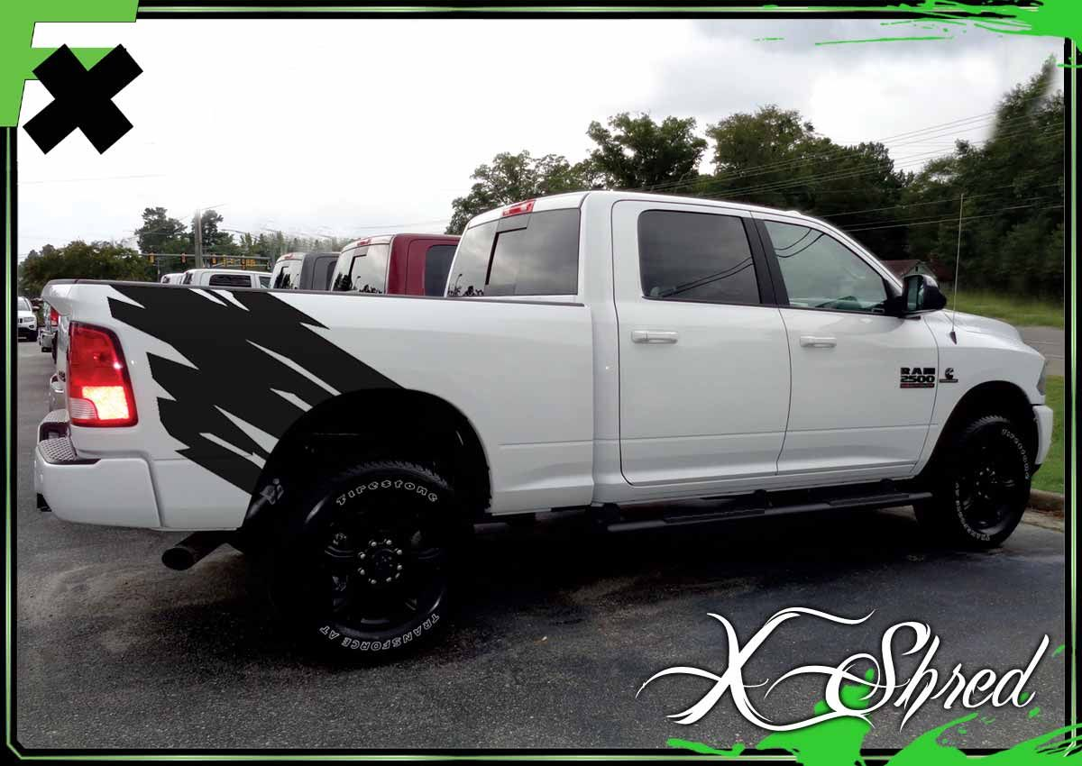 X SHRED UNIVERSAL Truck Graphics Bed Stripes Side Body