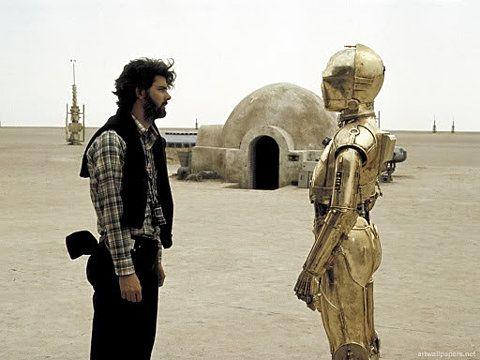 Flickr Fotodownload: George Lucas & C-3PO