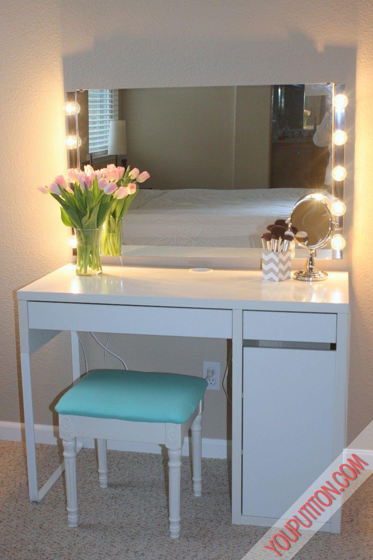 Finished Vanity Diy Vanity Mirror Home Decor Diy Vanity