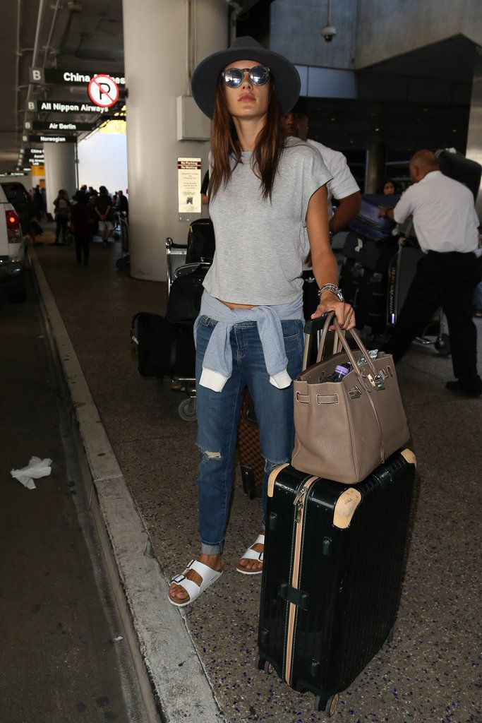 39 Times Alessandra Ambrosio's Airport Style Had That Model-Off-Duty Look
