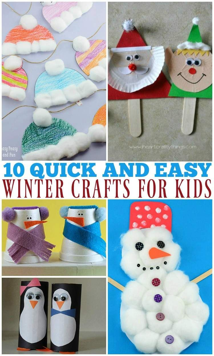 10 Quick And Easy Winter Crafts For Kids Best Of The Relaxed