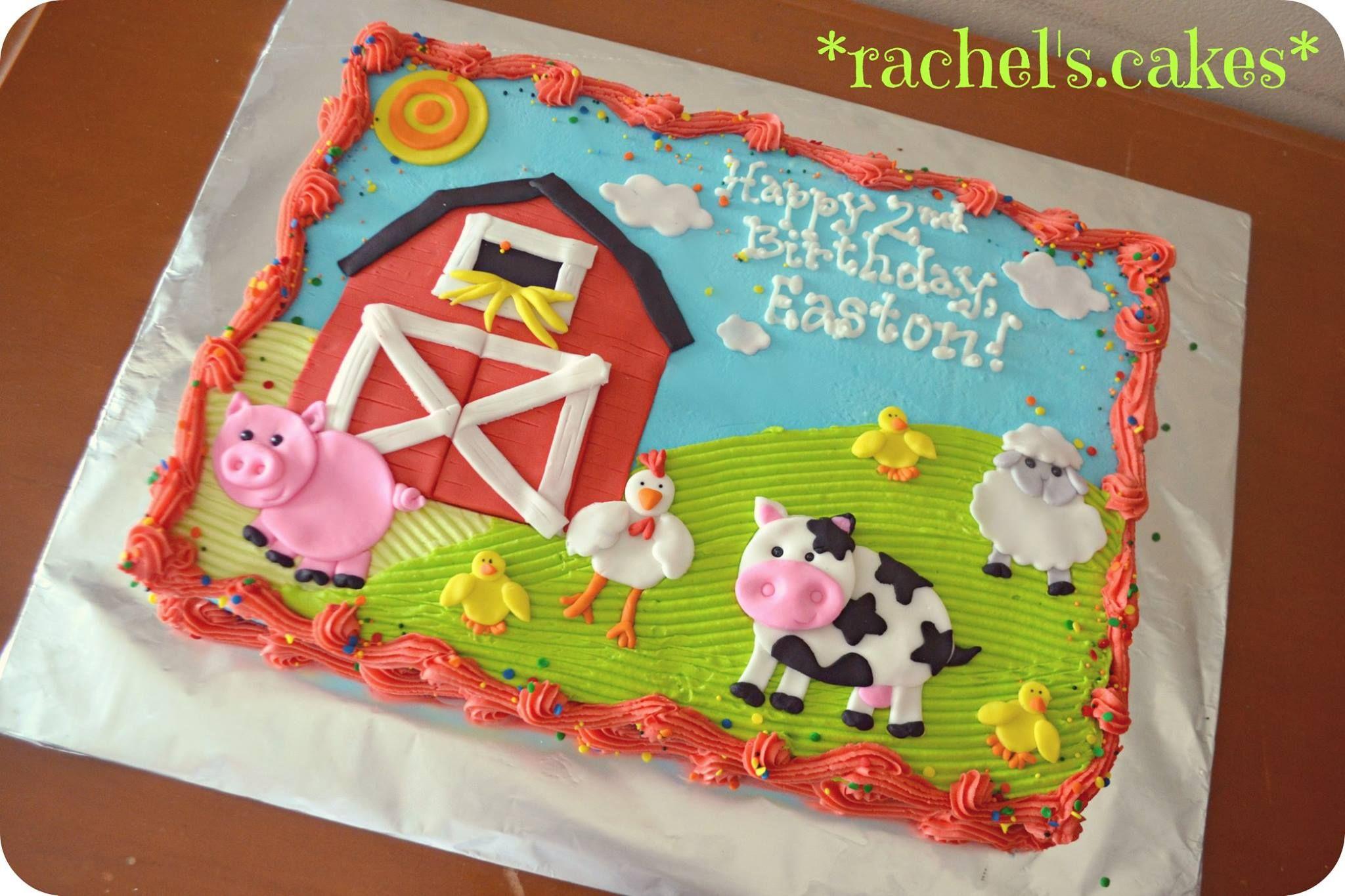 Farm Sheet Cake