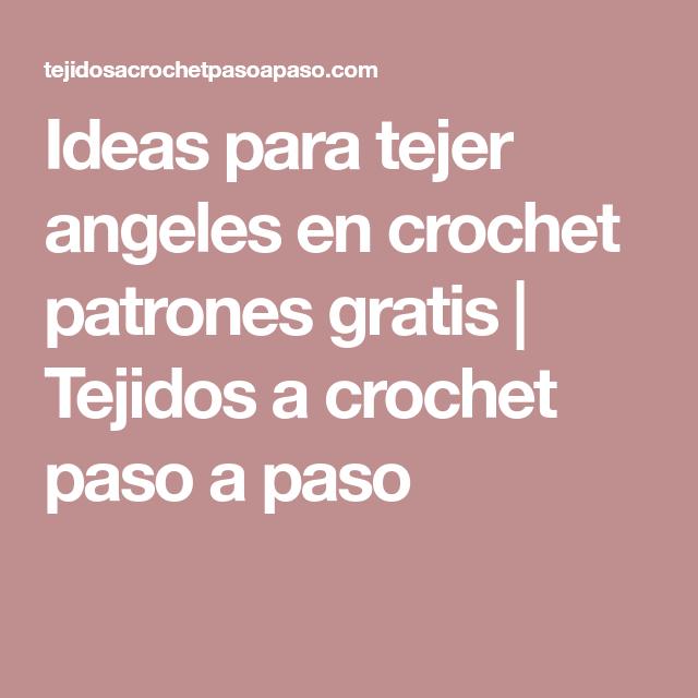 Ideas para tejer angeles en crochet patrones gratis   Crochet ...