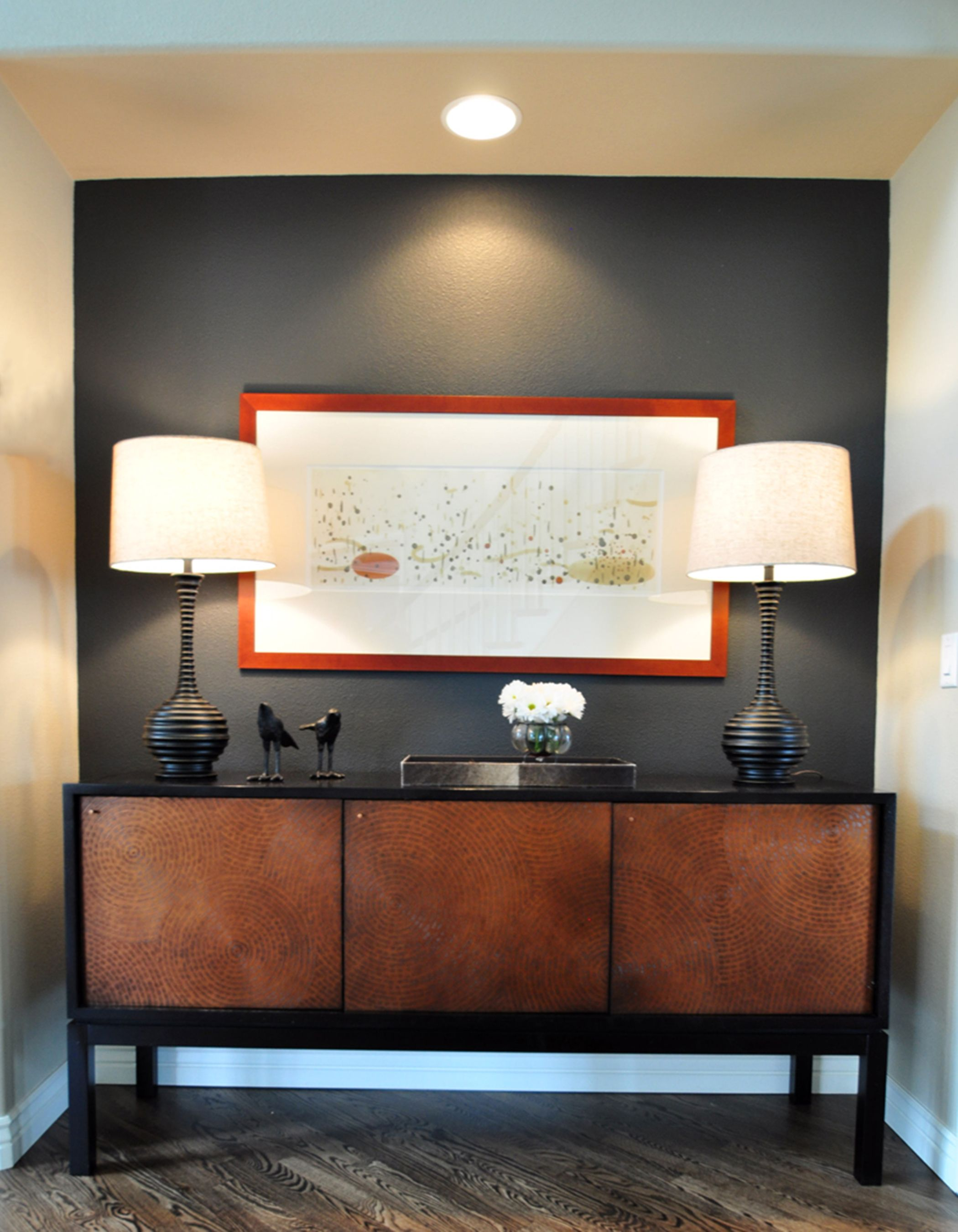 Copper Accent Wall Entry Nook Copper Buffet Accent Wall By Judith Balis