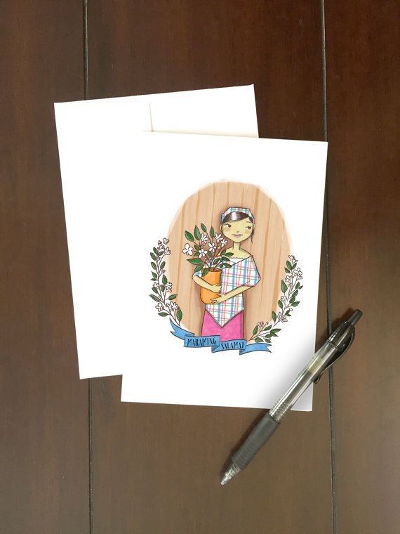 Maraming Salamat Philippines Filipino cards THANK YOU Pack of 2