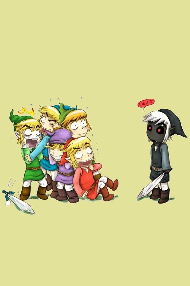 Link freaking out about dark link XD