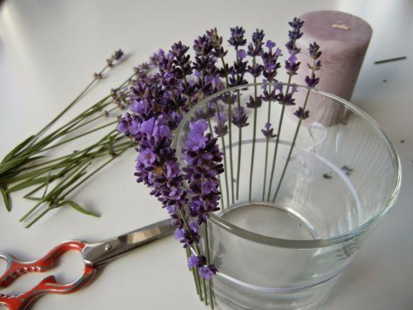 Lavendel deko interessant aussehen dekoration hochzeit - Dekoration lavendel ...
