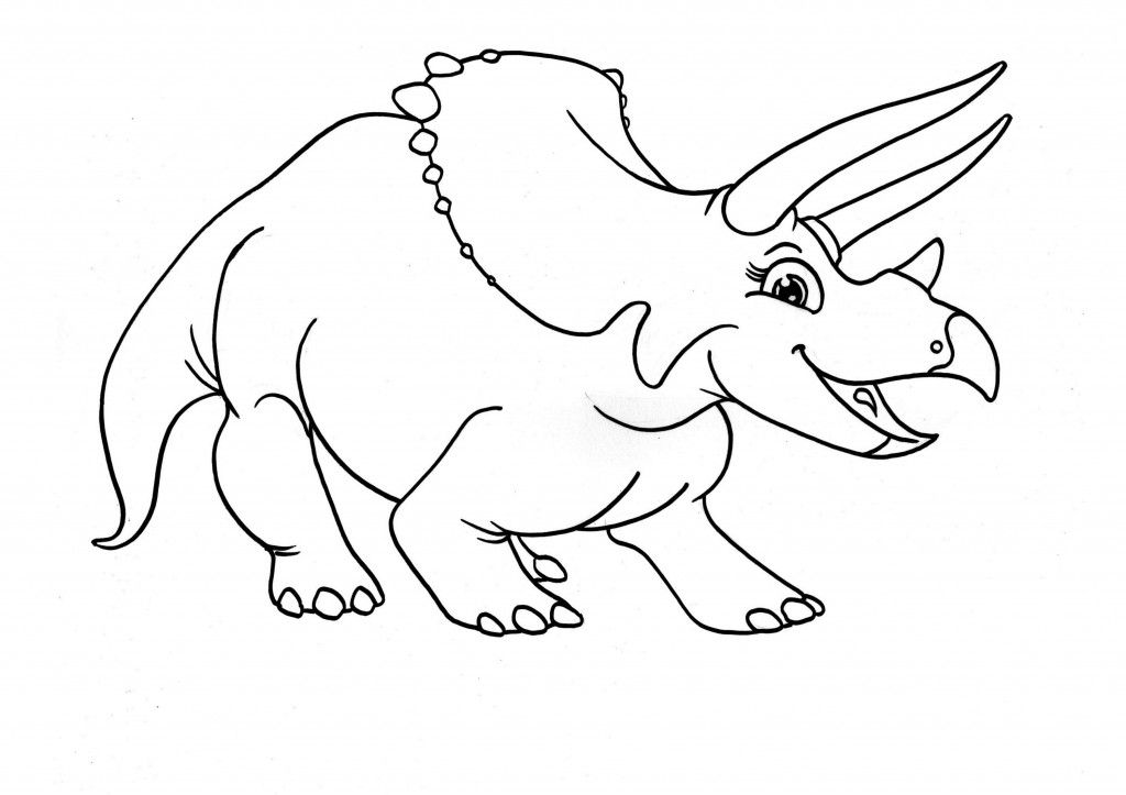 Free Printable Triceratops Coloring Pages For Kids Dinosaur